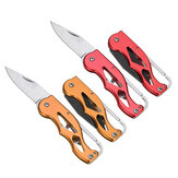 XANES® 100mm Multifunction Portable Pocket Survival Folding Knife EDC Key Chain Knife Camping Fishing Tools