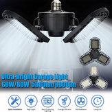 15/60 / 80W 96 / 300LED Verformbare LED-Garage Ultrahelle Lichter Garagen-Deckenleuchte einstellbar E26/E27 LED-Arbeitsscheinwerfer mit 2/3 Blättern Aluminiumdruckguss / Kunststoff Optional