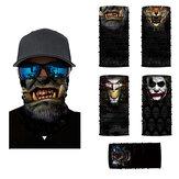 Maschera unisex multifunzionale per la copertura della sciarpa, bandane antipolvere, protezione UV Collo Ghetta, fascia antipolvere antipolvere per TORCIA corsa motociclistica