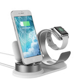 3 In 1 Aluminum Alloy Charging Station Desktop Phone Holder For iPhone/Apple Watch/Apple AirPods/Apple Pencil