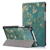 Kayısı Çiçeği Üçlü Fold Kılıf 8 İnç Huawei Honor 5 8 İnç Tablet için Kapak