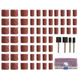 100Unids 60/120/320 Kit de Cilindro de Lijado Dremel Herramientas Giratorias con Mandriles de Lijado de 1/2 1/4 Pulgadas