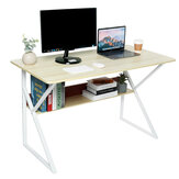 Computer Desk Student Writing Study Table Workstation Laptop Desk Game Table with Storage Shelf for Home Office Supplies