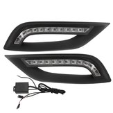 LED DRL Daytime Running Lights Driving Fog Lamp with Controller Wiring Pair for Hyundai I45/Sonata 2011-2014