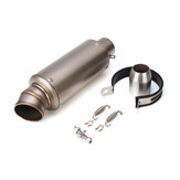 38-51mm Exhaust Muffler Pipe End Silencer Stainless Steel For 125cc-600cc Motorcycle Universal