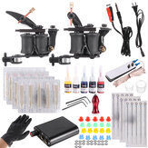 Professional Complete Tattoo Kit Tattoo Machine Grip Set 5 Ink Needles Tips Power Supply