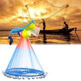 2.4mColorfulMãoElencoRede De Pesca Ao Ar Livre Caça Isca De Pesca Ferramentas De Pesca De Rede
