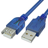 Cavo dati GCX USB maschio a femmina Cavo dati Cavo dati USB 2.0 Cavo dati blu trasparente per tablet computer