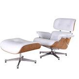 Krzesło wypoczynkowe z białej skóry palisandrowej Spin Sofa ze stali nierdzewnej Salon / jadalnia Fotel do sypialni Meble
