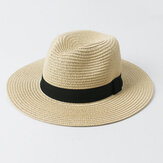Mens Womens Sun Protection Stetson Hat Outdoor Woven Ligthweight Beach Panama Caps