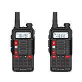 2 τεμ. BAOFENG EU Plug BF-UV10R Plus 10W 5800mAh UV Διπλή ζώνη αμφίδρομη φορητή ραδιόφωνο Black Walkie Talkie 128 κανάλια LED Φακός USB Επαναφορτιζόμενη ενδοεπικοινωνία εξω