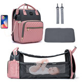 Large Capacity Diaper Bag Backpack Multi-function Baby Bed Bags Nursing Handbag Stroller Bag with Hooks Bag