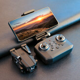 LANSENXI LS-XT6 Mini WiFi FPV avec 4K / 1080P HD Drone RC pliable en mode de maintien d'altitude à double caméra Quadricoptère RTF