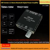 XY-C100H HIFI 2x100 Вт TPA3116D2 AUX + bluetooth 5,0 HIFI Цифровое стерео питание Усилитель Плата APP Control AMP Amplificador Домашний кинотеатр