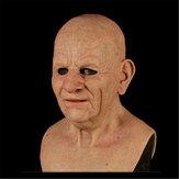 Natal Cosplay Rubber Old Man Máscara Realistic Scary Latex Máscara Horror Headgear Cosplay Props para Adulto Homem Mulher