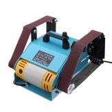 950W 220V Multi-function Sander Desktop Double Axis Belt Sanding Grinding Machine