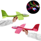 48cm 19'' Hand Launch Throwing Aircraft Airplane DIY Inertial EPP Plane Toy With LED Light