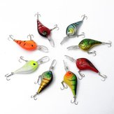 8pcs 11.5cm Plastic Fishing Lures Bass Crankbaits with Hook Fishing Tackle