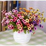 7 Renk Suni Ayçiçekleri İpek Papatya Simülasyonu Çiçek Buketi Ev Dekoru