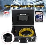 Eyoyo WF92 Pipe Pipeline Inspection Camera 40M Dreno Esgoto Boroscópio Industrial Sistema de encanamento de vídeo com 7 polegadas LCD Monitor