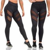 Kadın Four Seasons Sport Yoga Seksi Pantolon Saçak Açık Şatış Perspektif Dikiş Fitnes Gym
