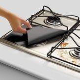 Honana 4PCS रसोई पुन: प्रयोज्य एल्यूमीनियम पन्नी गैस स्टोव बर्नर कवर रक्षक लाइनर क्लीन मैट पैड