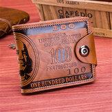 PU Leather Portable Purse 9 Card Holder Wallet For Women Men Unisex