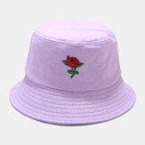 Mulheres verão UV proteção floral Padrão bordado casual bonito sol Chapéu balde Chapéu