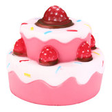 11cm * 11cm Squishy Strawberry Cake profumato Super Slow Rising Kids Toy Collezione regalo carino