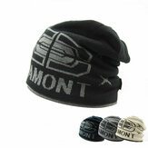 Men's Knitted Thickened Wool Caps Letter JAMONT Double Layer Hat Warm Cover Head Cap Ski