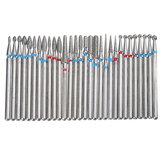 30pcs3/32InchBerlianNail Bor Bits Set untuk Art Nail Kutikula Manicure Pedicure Tools