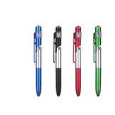 10Pcs 4-em-1 Caneta Esferográfica Dobrável Tela Stylus Touch Pen Caneta Capacitiva com LED Para Tablet Celular Escola Escritório