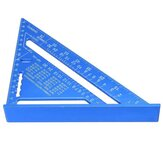 7/12inch Triangular Measuring Ruler Aluminum Alloy Metric/Imperial Triangle Angle Protractor