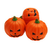 3PCS 7CM Squishy Simulation Random Halloween Slow Rising Smile Pumpkin Squishy Fun Toys Decoration