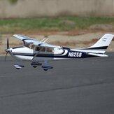 FMSスカイトレーナー182ブルー1400mm翼幅EPO RC飛行機トレーナーRTFフラップ付きLEDライト