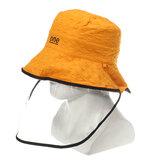 フィッシャーマンキャップバケツハット夏ユニセックスアンチスピッティング防塵ハットサンワイドブリム保護