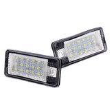 18-LED Lisans Numarası Kap Işıklar Hata Ücretsiz Çifti Audi A3 S3 A4 A6 S6 A5 RS4