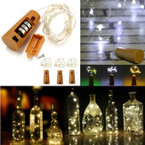 Battery Powered 10 LEDs Cork Shaped LED Night Starry Light Bottle Holiday Lamp for Christmas Party