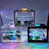 Mini Tropical Fish Aquarium Desktop Kreative ökologische Tank Micro Landscape Aquarium mit LED-Licht