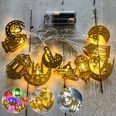 1.65 M 3M Eid Mubarak Ramazan LED Dize Işık Demir Tarzı Dekoratif Kapalı Ev için Lamba