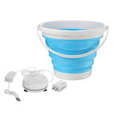 4-Modes 10L Mini Portable Bucket Turbine Washing Machine Folding Bucket Type USB Laundry Clothes Washer Cleaner For Home Travel