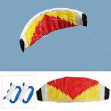 2-Line Parafoil Stunt Kite 0,7 x 2m Pára-quedas Vela / Surf Praia Nylon Tecido