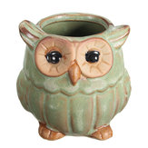 Garden Ceramic Owl Succulent Plants Flower Pot Mini Plant Planters Home Garden Decor