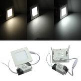 3W Square Ceiling Panel White/Warm White LED Lighting AC 85-265V