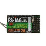 FlySky FS-iA6 2.4G 6CH AFHDS Receptor para Transmissor FS-i10 FS-i6