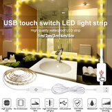 1M / 2M / 3M / 4M / 5M USB Touch Switch LED Strip Light Waterproof 2835 Vanity Dimbare spiegellamp Kit voor make-up TV-achtergrondverlichting