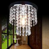 Lámpara de cristal de dormitorio de pasillo de 20 * 20 cm Colgante Lámpara Accesorio de iluminación de luz de techo