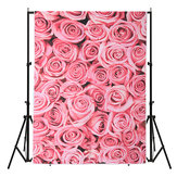 3x5ft Vinyl Lawn Pink Rose Flowers Floor Backdrop Photo Photography Background Studio Prop