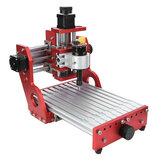 Červený 1419 3osý Mini DIY CNC router Standardní vřetenový motor Řezbářství Gravírování dřeva Frézování Rytec