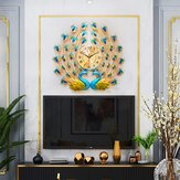 Роскошный европейский павлин стены искусства Часы 12Х стиля для кварца Батарея Диаманте